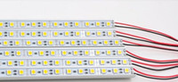 Wholesale 1m leds SMD LED Rigid Strip Lights Lamp Hard Article Light Bar quot U quot Aluminum Alloy Housing Waterproof IP68 V Via Express