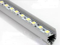 Wholesale 1m SMD LED Rigid Strip Lights Lamp leds Hard Article Light Bar quot V quot Style Shell Housing DC V Non waterproof Lamp Strips Tube CE