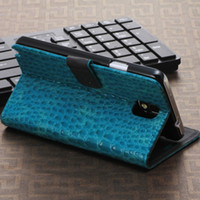 Cheap Free Delivery Crocodile Pattern Samsung Galaxy Note III N9000 Leather Stand Case For Samsung Galaxy Note 3 III N9000