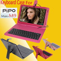 Keyboard Case 10.1'' For pipo M9 3pcs lot Free Shipping Fashion USB tablet PU keyboard case for 10.1 inch pipo M9 Black Brown ROSE DHL