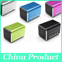 Wholesale MD Music Angle Speaker MP3 Player Sound Box Support Micro SD TF USB SLOT FM Portable for iphone ipad tablet pc MP3 MP4 Laptop