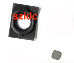 Home Button Holder Rubber Gasket Metal Pad For iPhone 4S Free Shipping