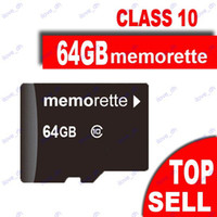 Wholesale 64GB Memorette Micro SD Card Class TF Memory Card GB Micro SD SDHC Cards Adapter Retail Package OR White Plastic Case okdeals BD