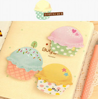Wholesale Ice cream Bookmark Memo Pad Gift Message Post It Sticker Decoration Sticky Notes