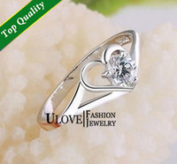 Anniversary Fashion Rings Sparkling Sterling Silver S925 Ring Love Heart Toe Ring Swarovuski Crystal CZ Jewellry Lady Engagement Wedding Band for Woman