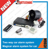 Wholesale High quality Magicar two way car alarm system M903F with LCD remote engine starter english version car alarm