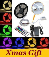 SMD 5050 Yes 60 pcs/m 5050 SMD Led Strip Light RGB 300 Leds 5m Waterproof IP65 12V + 44 Key IR Remote Controller + 12V 5A Power Supply With EU AU US UK Plug