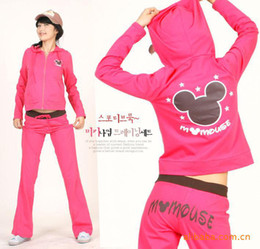 Wholesale Spring and Autumn Korean Women Women s casual cute hooded track suit suit a variety of colors