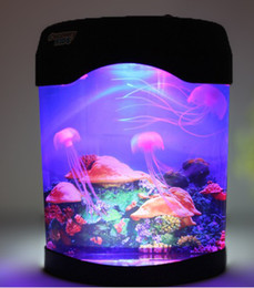 Wholesale Home Office Decorations USB Battery LED Electric Multi Colored Swimming Jellyfish Mood Lamp Aquarium Tank