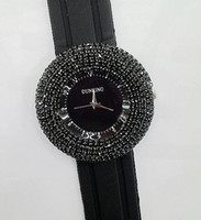 Wholesale Sparkling Full Beads Silicone Belt Quartz Watch Stainless Steel Nickel Free Dial Size cm Student Watch color