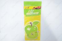 Wholesale 10pcs Car perfume car air freshener paper perfume air freshener a variety of shapes Apple Shape FREESHIPPING AAA
