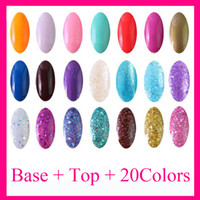 Wholesale 8ml Top Coat Base Coat Primer Color Polish Nail Art Glitter UV Gel Kit Soak off Polish for UV Lamp Nail Tips S003