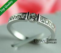 Engagement silver ring for women - 1 Piece Sterling Silver Ring for Woman and Man Zircon cm cm Crystal Rhinestone Size Bridal Ring Wedding