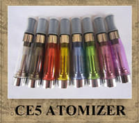 Wholesale CE4 CE5 clearomizer atomizer cartomizer ml Dual hole No Cotton Thread electronic cigarette atomizer vapore for all ego series colors