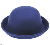 Wholesale Noble Girl Solid Trendy Bowler Derby Warm Wool Hat Men s Cloche Cap