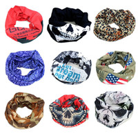 Polyester+cotton multifunctional headwear - Hot Sale Fashion Multifunctional Headwear Magic Seamless Multi Functional Ghost Head Scarf Sunscreen Kerchief for Outdoor Sports Cycling