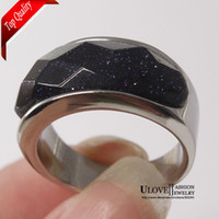 Engagement Fashion Rings Stainless Steel Ring for Woman Resin Agate Size 7 8 9 Titanium Ring for Man Woman Black Agate Black Stone Ring