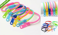 al por mayor pulseras zip-Venta al por mayor - PULSERA ZIP KIDS ADULTS UNISEX ACCESORIO DE MODA ZIPPER ARMBAND