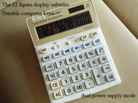 Wholesale The figure display subtitles Durable computer keys Large desktop Solar Dual Power Calculator office use calculator