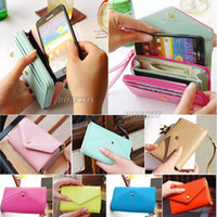 Plain womens wallets - Womens Crown Purse Clutch Wallet bags Envelope Case Pouch For Galaxy S2 IPhone Bx47