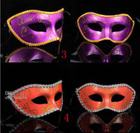Wholesale Masquerade Shock Toys Half Face Mask Gold Dust Mask Men Party Accessories Hot Sales