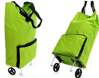 Trolley Plain Nylon New Brand Portable Journey Bag trolley travel Case luggage trolley luggage For Shopping Cosmetic Bag