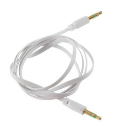 Noodle Flat colorful Male to Male 3.5mm Car Audio AUX stereo audio cables Cord for mobile phone
