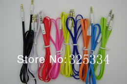 3.5mm to 3.5mm Colorful flat type Car Aux audio Cable Extended Audio Auxiliary Cable wholesale