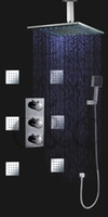 Wholesale With Inch LED Colors Rain Shower Head Thermostatic Sensitive Rainfall Thermostatic Shower Set