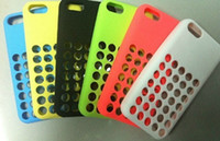 Wholesale Silicone Case Cover for iPhone C Circle dot Silicone Rubber Cover Back Mobile Phone Cover Pouch for iPhone C iPhone C SK01