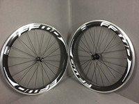 Wholesale New Road bicycles MM White Black FFWD Carbon wheels Clincher Complete Carbon Wheelset Carbon Bike Wheelset Aluminum Alloy Brake Surface