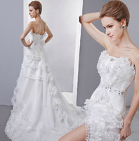 Modern Appliques Strapless Perfect Dress New Product Promotion, 2013 New Celebrity To Sexy Design Organza Bridal Gown, Wedding Dresses