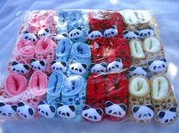 Wholesale 10 Pairs Baby Walker shoes infant winter Soft Sole Walking Shoes prewalker First Walker Shoes socks cotton cartoon Panda month