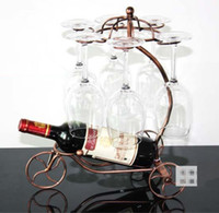 Wholesale Red wine glass rack hanging upside down cup holder hanging goblets Wine Rack
