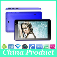 Wholesale 7 Inch A13 Dual Sim G Phone Call Tablet Android Dual Camera M GB GHz Capacitive Screen WIFI Bluetooth Android Phablet