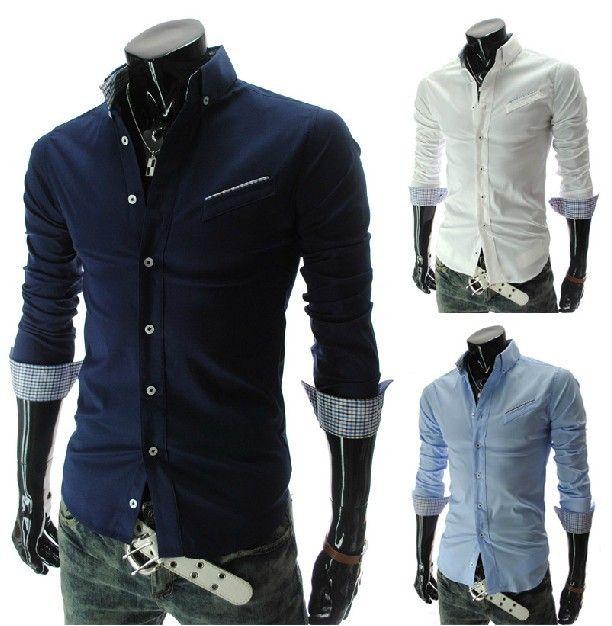 2017 new oblique pocket men 39 s clothes casual slim men 39 s shirts fashion long sleeve mens shirts. Black Bedroom Furniture Sets. Home Design Ideas