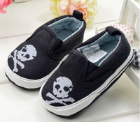 Elastic band baby girl skull and crossbones - BX19712pairs Top New Gift Crossbones Skull heads raw and bloody Footwear Casual Newborn Baby First Walker Shoe Toddler Boy Girl Infant