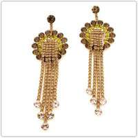 Wholesale dangle Chandelier earrings pink crystal earrinngs with Swarovksi element BA colors classic accessories