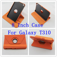 Wholesale 8 inch tablet case for T310 Samsung Galaxy Tab T310 up rotary leather case for T310 galaxt tab