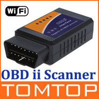 Wholesale Wi Fi wifi ELM ELM327 OBD OBD2 OBDII Protocols Auto Car Diagnostic Interface Scanner tool K658