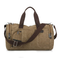 Wholesale 092102 Korean style Men Duffel Bags large canvas travel Totes leisrue traveling bags green blue khaki coffee colors