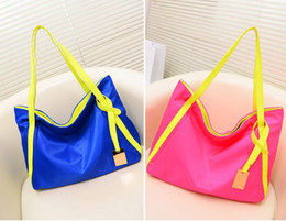 Fashion women hit fluorescent candy color shoulder cosmetic bags Diaper Bags tote Luggages Briefcases case Shopping Bag Sport Outdoor Packs