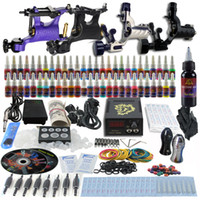 4 Guns Beginner Kit VS-TK1-91 Complete Tattoo Kit 4 Pro Rotary Machine Guns 54 Inks Power Supply Needle Grips TK452