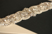 Wholesale Top Quality Luxurious Custom Made Crystal Rhinestone Beaded Hand Made Wedding Dress Sash Bridal Sash Belt