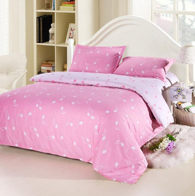 Music Notes Pink Bed In A Bag Doona Sets 4 Full Queen Size