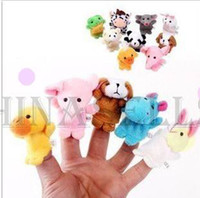 Wholesale in stock hot mini animals hand puppet toys finger doll baby toys thumb interactive dolls