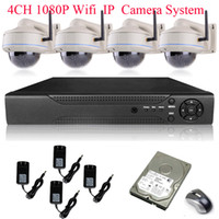 Wholesale H CH HD NVR MegaPixel Sony Sensor P Full HD Wireless WIFI IR Network IP Camera System With TB HDD