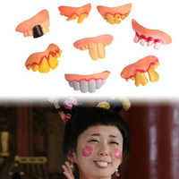 Wholesale Hot Sale Multi Style Props Funny Denture Sets Terrorist Teeth Denture For Halloween and April Fool s Day