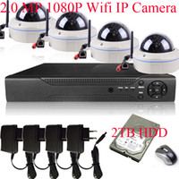 2.0MP IP Camera wifi ip dome - H CH NVR MegaPixel Sony Sensor P Full HD IR Wireless WIFI Network IP Dome Camera System With TB HDD