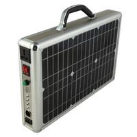 Wholesale 15W Solar Briefcase Ultra Thin Portable Solar Power System Solar Lighting Kit